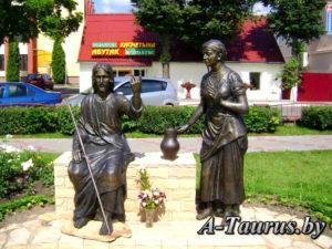 Скульптура Иисус и самарянка