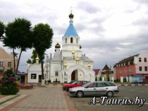 православный собор на площади города Поставы