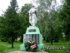могила воинов и партизан в Юрьево