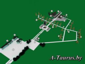 Карта мемориального комплекса Хатынь