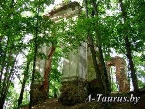 руины дворца Тышкевичей