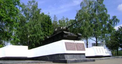 Танк в Острошицком Городке