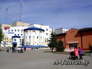 Библиотека и торговый центр в Жодино