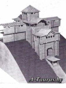 Макет въездных врат Минского замка
