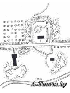 Схема планировки усадьбы в деревне Аннополь