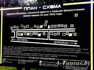 План-схема мемориального комплекса Шуневка