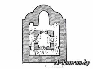 План останков Минского замкового храма с захоронениями