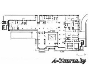 План первого этажа гостиницы Планета, в Минске
