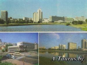 Фрагменты застройки проспекта Победителей в Минске советского периода